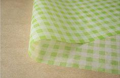 Beautiful Printed Wax Papers - Set of 20Sheets  check green