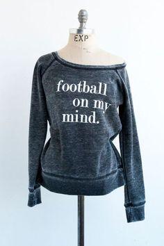 Football On My Mind Acid Washed Sweatshirt – shoplivylu