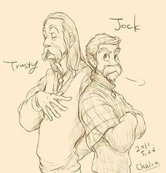 Trusty and Jack, from Lady and the Tramp. Disney animals as humans...*_*...so glad this has happened.
