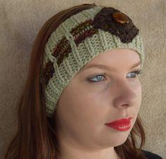 Hand knitted Ladies / Girls Beanie Band / Headband / Ear warmer by…