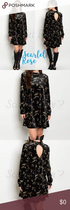 ❤️COMING SOON❤️ Black Velvet Floral Dresses ❤️COMING SOON❤️ Velvet is all the rage this season, and I am so into it. I LOVE Velvet for Fall and Winter. This black velvet dress can be worn for so many events, including work, parties, out with friends, etc. And this dress will last you for seasons to come! Like or comment on this listing to be notified of arrival.  The slight mock neck and long sleeves make this the perfect dress. I can't wait for it to arrive! Modeled pics and more details to…