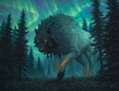 Fantasy Creatures, Mythical Creatures, Mtg Art, Pop Culture Art, Image Painting, Magic The Gathering, Fantastic Beasts, Werewolf, Fantasy Characters