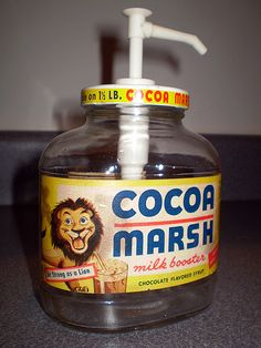Vintage Cocoa Marsh Chocolate Flavored Syrup Soda Fountain Pump | Flickr - Photo Sharing!