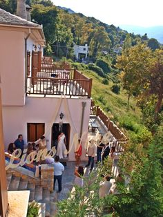 Wedding at Lions Nine Kostas-Katerina Lions, Cabin, Weddings, Mansions, House Styles, Places, Home Decor, Lion, Decoration Home