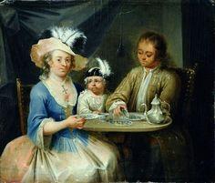 German School - Family Portrait, 1760