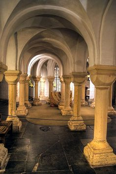 Crypt in Worcester Cathedral