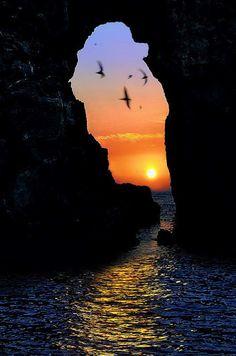 ✯ Sfaktiria, Pylos - Beautiful Sunset!
