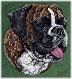 Detailed design documentation - colors, thread consumption, etc. Dog Pattern, Pattern Design, Dog Design, Boxer, Embroidery, Patterns, Dogs, Animals, Block Prints