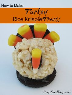 How to Make Turkey Rice Krispie Treats