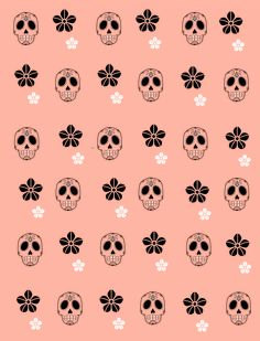 Flower Skull by Monas