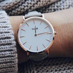 lauradepauraa | sharing this beautiful shot of our loved La Bohème Rose Gold White/Grey  Find yours now at www.clusewatches.com