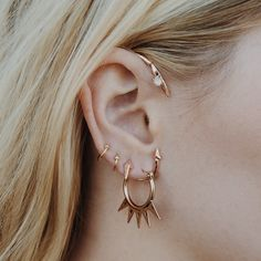 The Petal Pointe Ear Cuff- Rose Gold | Luv Aj