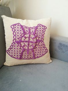 PILLOW / Beige  Pillow Cover Lace Throw Pillow by SpecialFabrics