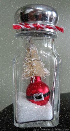 santa salt shaker snow globe pleasure in simple things blog