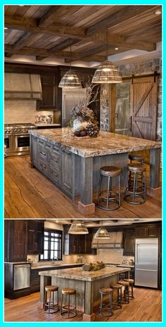 Rustic Kitchen Ideas - Rustic kitchen closet is a lovely mix of country home and farmhouse design. Surf 3 Rustic Kitchen Ideas - Rustic kitchen closet is a lovely mix of country home and farmhouse design. Surf 30 ideas of rustic kitchen design below Rustic Kitchen Design, Rustic Design, Diy Kitchen, Kitchen Ideas, Kitchen Dresser, Kitchen Cabinets, Kitchen Wood, Kitchen Shelves, Kitchen Pantry