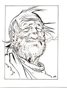 Portrait de Mac Clure par Moebius