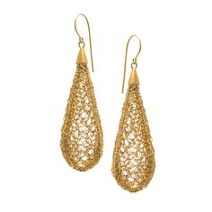 Crocheted Cocoons | GOLD-PLATED SILVER DROP EARRINGS - product images  of SCHJ