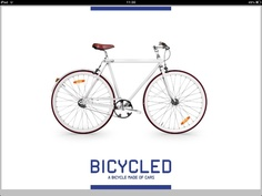 Bicycle Made of Cars by Chacho Puebla, Lola - http://www.behance.net/wip/64689/133041#