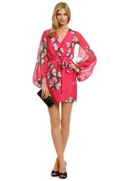 Erin by Erin Fetherston Viceroy Butterfly Dress - Beautiful for rehearsal dinner or ceremony Butterfly Dress, Butterfly Party, Long Sleeve Pyjamas, Pajamas Women, Silk Chiffon, Night Gown, Dress To Impress, What To Wear, Celebrity Style