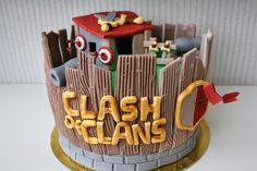 Belen cakes and cookies: Tarta Clash of Clans para Diego