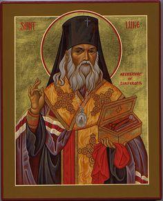 sfantul-Luca-al-Crimeii doctor fara de arginti Byzantine Icons, Orthodox Christianity, Orthodox Icons, Christian Art, Lent, View Image, Cancer, Princess Zelda, Faith