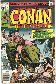 Conan The Barbarian. Vol. 1. No. 74. U.S. Marvel Comic. May 1977.