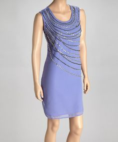 Take a look at this Lavender Embellished Sleeveless Dress by Trisha Tyler on #zulily today!