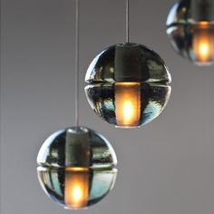 14.3 Three Pendant Chandelier Design by Omer Arbel. Made in Vancouver, Canada by Bocci