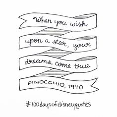 Pinocchio hand lettered type | Disney Quotes | © Shannon McNab