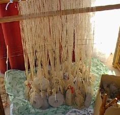 Experiments with a warp-weighted loom: Recreating period fabric production.    By Maggie Forest and Silvia Ravinet