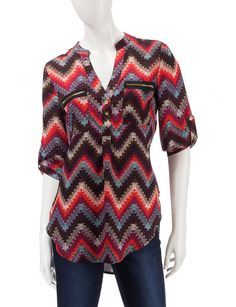 Shop today for Wishful Park Double Zipper Chevron Print Top  & deals on Blouses! Official site for Stage, Peebles, Goodys, Palais Royal & Bealls.