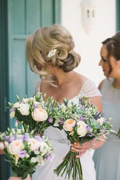 Bridal Up Do | Chic Southern Spain Wedding at Casa Rosa | Planned & Styled by Rachel Rose Weddings | Maggie Sottero Bridal Gown | Lilac Flowers | Radka Horvath Photography | http://www.rockmywedding.co.uk/claire-lenny/