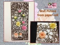 D I Y Wall Pic from paper roll -Tutorial - YouTube