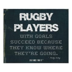 #Rugby Players with Goals Succeed in Denim > Poster with rugby #quote for motivation