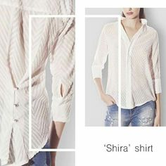 Classic with a twist 🔝 Womens Fashion For Work, Work Fashion, Sheer Blouse, Ruffle Blouse, Office Wear, Online Boutiques, Button Down Shirt, Trending Outfits, Clothes For Women