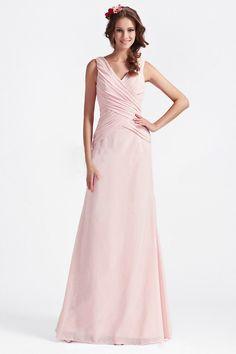 7fb7366627f Sheath Column V-neck Sleeveless Ruched Floor-length Evening Dress (002189)
