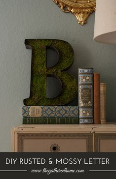 This started out as a basic metal letter - some DIY rusted patina + sheet moss transformed it into a perfect vintage-inspired decorative accent! Get the full tutorial here...