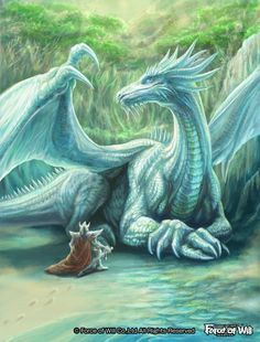 White Scale dragon by LusiaNanami Dragon Fantasy Myth Mythical Mystical Legend Dragons Wings Sword Sorcery Magic