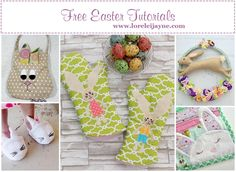 Get Free Sewing tutorials just in time for easter celebrations, get inspired and get sewing with these freebies. Sewing For Kids, Baby Sewing, Free Sewing, Bag Patterns To Sew, Pdf Sewing Patterns, Free Tutorials, Sewing Tutorials, Lazy Girl Designs, Sewing Essentials