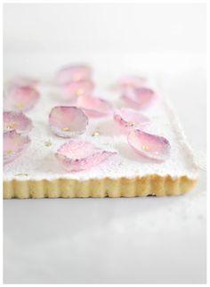 ... white chocolate rose water tart ...