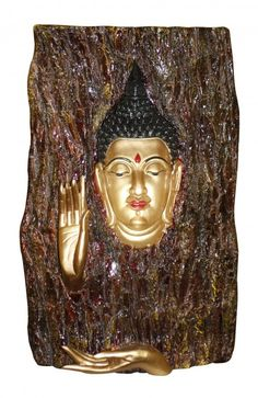 Immaculate buddha sculpture engraved inside a wooden trunk.Flaunt them in your drawing room space and have your guests mesmerised.