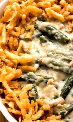 Easy green bean casserole, Green bean casserole and Blue cheese ...