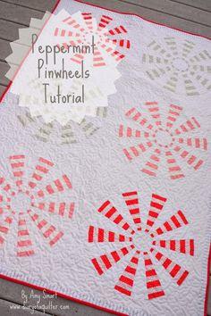 'Peppermint Pinwheel' Dresden block tutorial - Diary of a Quilter - a quilt blog