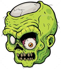 Buy Zombie by SARAROOM on GraphicRiver. Vector illustration of Cartoon Zombie face Zombie Cartoon, Cartoon Clip, Cute Monsters Drawings, Cartoon Drawings, Zombie Illustration, Illustration Art, Halloween Vector, Zombie Face, Stickers