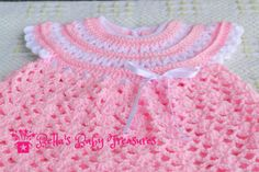 Crochet vestido de niña bebe