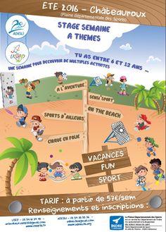 Stage Fun Sport, Châteauroux, Châteauroux,  89 allée des platanes, Mercredi 6 Juillet 2016, 9h00 > Vendredi 29 Juillet 2016, 18h00 Lundi 22 Août 2016, 9h00 > Mercredi 31 Août 2016, 18h00
