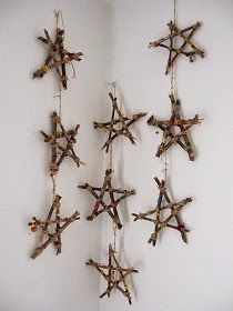 twig stars -- 15 Winter Crafts for Kids Noel Christmas, Rustic Christmas, All Things Christmas, Christmas Ornaments, Christmas Ideas, Christmas Lights, White Christmas, Stick Christmas Tree, Xmas Tree