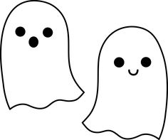 Duo of Cute Halloween Ghosts
