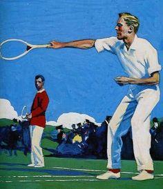 Tennis  -  Edward Hopper, 1906-1925  American, 1882-1967  Illustration