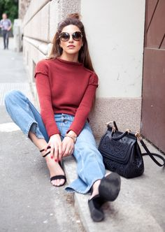 Flares An Knit Casual Streetstyle by Negin Mirsalehi